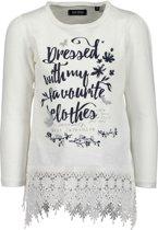 Blue Seven Meisjes Tuniek Shirt Wit met kant - Maat 110