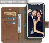 Bouletta Afneembare 2-in-1 Magneet Leren BookCase Hoesje iPhone XS - Burned Cognac