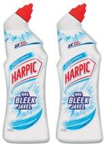 Harpic Gel Bleek Javel Toiletreiniger - 2 x 750 ml