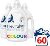 Neutral 0% Parfumvrije Wasmiddel Kleur - 60 wasbeurten - 3 x 1 l