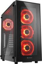 Sharkoon TG5 Midi-Toren Zwart-rood - PC behuizing