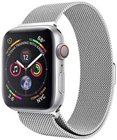 Milanese Loop Armband Voor Apple Watch Series 4 44MM Iwatch Metalen Milanees Horloge Band - Zilver Kleurig