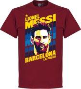 Messi Portrait Barca T-Shirt - M