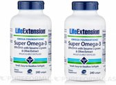 Super Omega-3 Epa/dha With Sesame Lignans & Olive Fruit Extract, 240 Easy- To-swallow Softgels, 2-pack