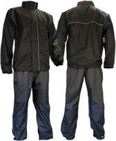 Ralka Comfort Regenpak - Volwassenen - Unisex - Maat L - Zwart