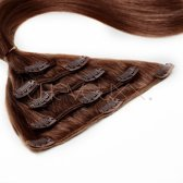 Clip-in extensions donker bruin 40 cm