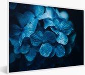 Foto in lijst - Dramatische hortensia foto fotolijst wit 40x30 cm - Poster in lijst (Wanddecoratie woonkamer / slaapkamer)