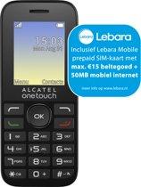 Alcatel 10.16 - Dual Sim - Lebara Prepaid - Zwart