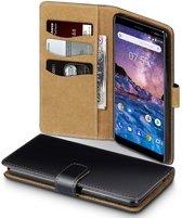 Qubits - wallet hoes - Nokia 7 Plus - TAN zwart