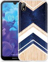Huawei y5 2019 Hoesje Space wood
