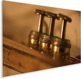 Close up van de trompetkleppen Plexiglas 90x60 cm - Foto print op Glas (Plexiglas wanddecoratie)
