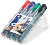 STAEDTLER Lumocolor permanent marker ronde punt - box 4 st