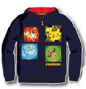 Pokemon trui, ritsvest met capuchon Marineblauw maat 104