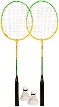 Avento Badminton Set QBS094 - Gehard Staal - Groen/Geel/Zwart/Wit