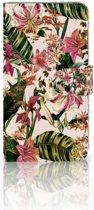 Motorola Moto E4 Plus Uniek Boekhoesje Flowers