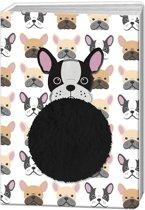 Blueprint Collections Notitieboek Happy Zoo Hond A5 Wit/zwart