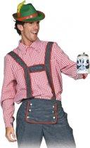 Oktoberfest Tiroler blouse voor heren 52 (l)