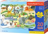At the zoo puzzel 20 maxi stukjes