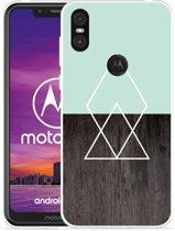 Motorola One Hoesje Wood Simplicity