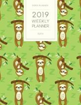 2019 Weekly Planner Sloth