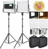 Draadloze Studio Lichten Set 3200 K/5600 K - Studio Lamp - Fotolamp Op Accu Fotografie + GRATIS Opbergtas - L4500