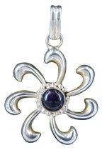 Zilveren hanger zon 7 stralen Amethist