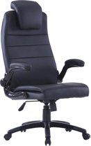 Kunstleren bureaustoel (zwart / verstelbaar)