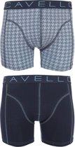 Cavello - 2-pack Boxershorts Blauw / Pied-de-Poule - S