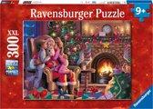 Ravensburger kerstpuzzel Bij de Kerstman - Legpuzzel - 300 stukjes