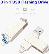 Iphone USB stick Flash Drive Usb 3.0 OTG 32GB Pen Drive Flash Disk 32GB Pendrive 3 in 1 Micro Usb Stick for iPhone/Android/PC External Storage Memory
