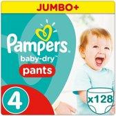 Pampers Baby Dry Pants Voordeelverpakking Maat 4 - 128 Stuks