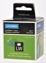 4x Dymo etiketten LabelWriter 50x12mm, wit, 220 etiketten