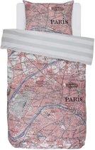 Covers & Co Paris Citymap Dekbedovertrek - Eenpersoons - 140x200/220 cm - Multi