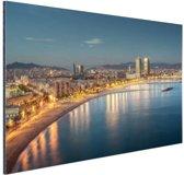 Strand van Barcelona Aluminium 30x20 cm - Foto print op Aluminium (metaal wanddecoratie)