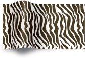 Vloeipapier 50x76cm Zebra print Vloeipapier zebra