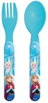 Disney Frozen kinderbestek vork met lepel 14 cm - Frozen peuterbestek