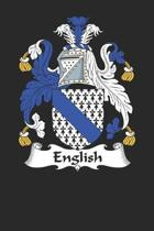 English: English Coat of Arms and Family Crest Notebook Journal (6 x 9 - 100 pages)