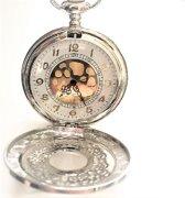 Horloge-Tom-  Ketting- - Zakhorloge- Zilverkleur