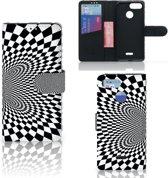 Bookcase Xiaomi Redmi 6 Zwart-Wit Design Illusie