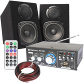 SkyTec compacte hifi geluidsset met versterker en speakers