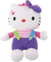Hello Kitty Knuffel Clown Meisjes Paars 17 Cm