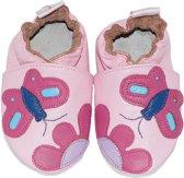 BabySteps slofjes Pink butterfly extra large