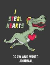 I Steal Hearts Draw And Write Journal