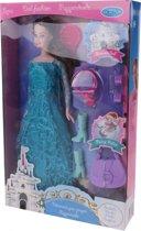 Eddy Toys Tienerpop Met Accessoires 29 Cm Blauw/donkerbruin