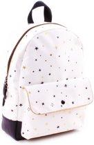 Kidzroom Black & Gold Stars Kinderrugzak Unisex - Wit - 31 cm hoog met zwarte en gouden sterren