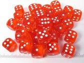 Chessex dobbelstenen set, 36 6-zijdig 12 mm, transparant oranje