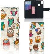 Xiaomi Redmi Note 7 Telefoonhoesje met Pasjes Vrolijke Uilen