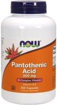 Now Foods Voedingssupplementen Pantotheenzuur, 500 mg (250 Capsules) - Now Foods