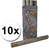 10 confetti shooters 60 cm zilver - party popper / confetti kanon