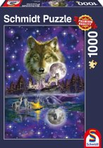Wolf in the moonlight, 1000 pcs Legpuzzel